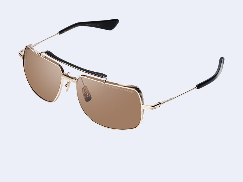 DITA SYMETA TYPE 403 (White Gold-Black with Brown Lens)
