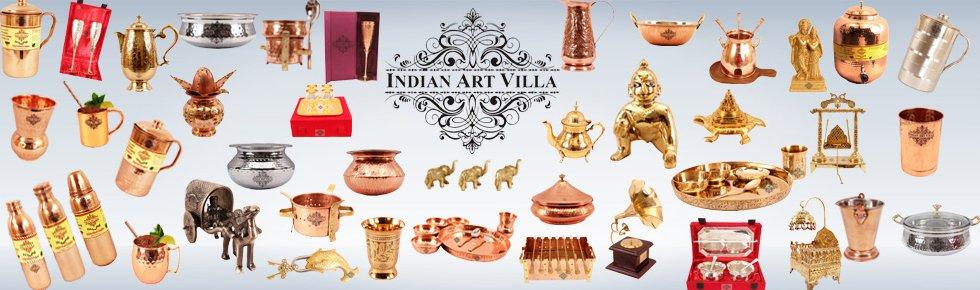Top Copper Utensils Indian Art Villa In United States USA