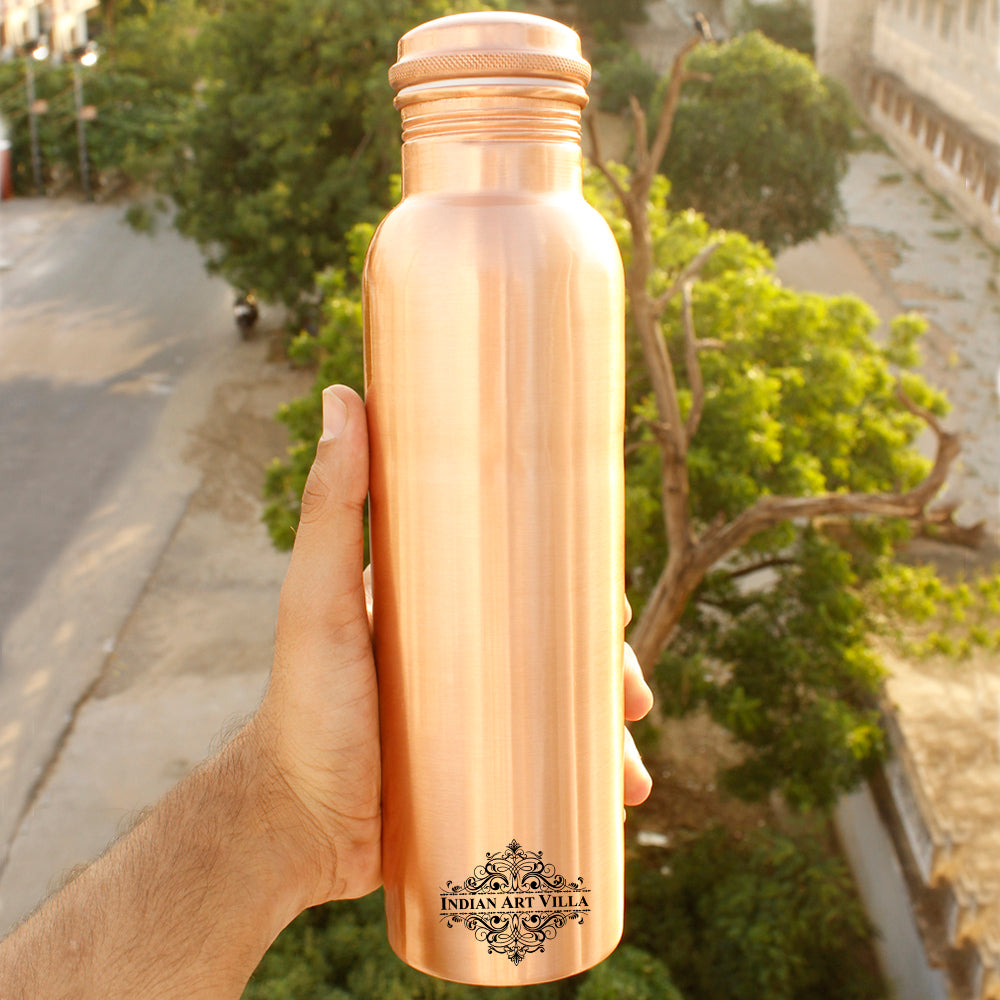 Copper Lacqour Coated Matt Finish Copper Leak Proof Bottle