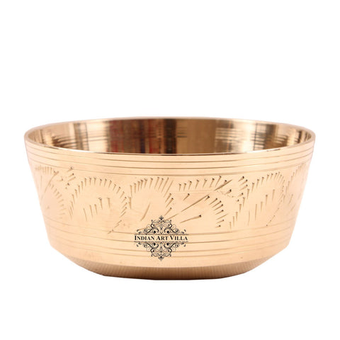 Brass Designer Bowl Serving Vegetable 6 Oz