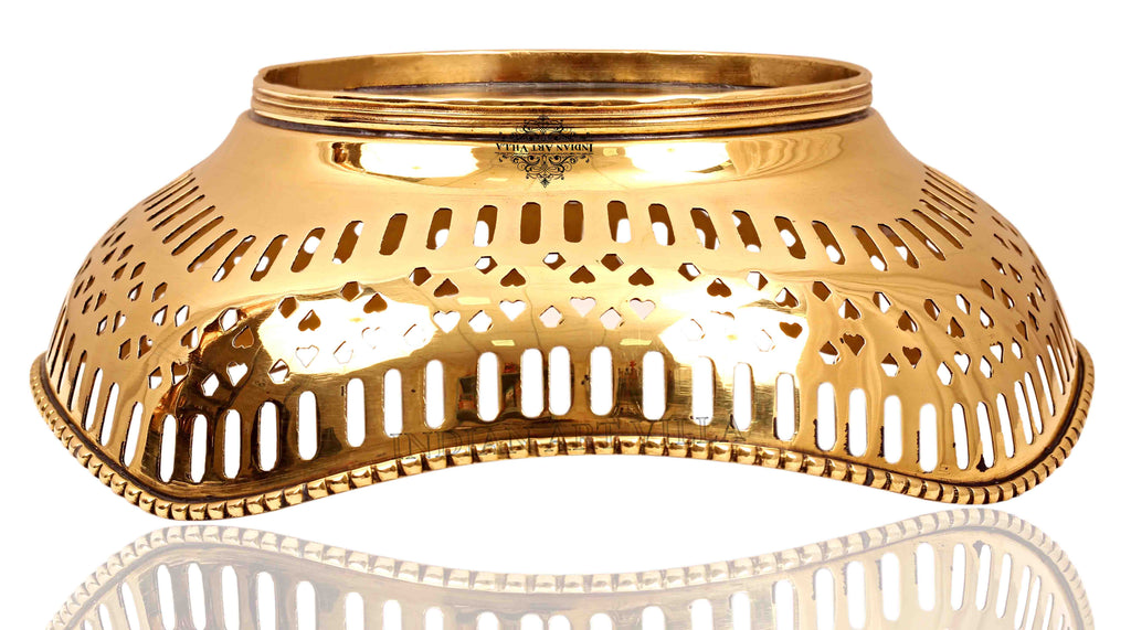 "Brass Designer Fruit Bowl Diameter 8.6"" Inch"