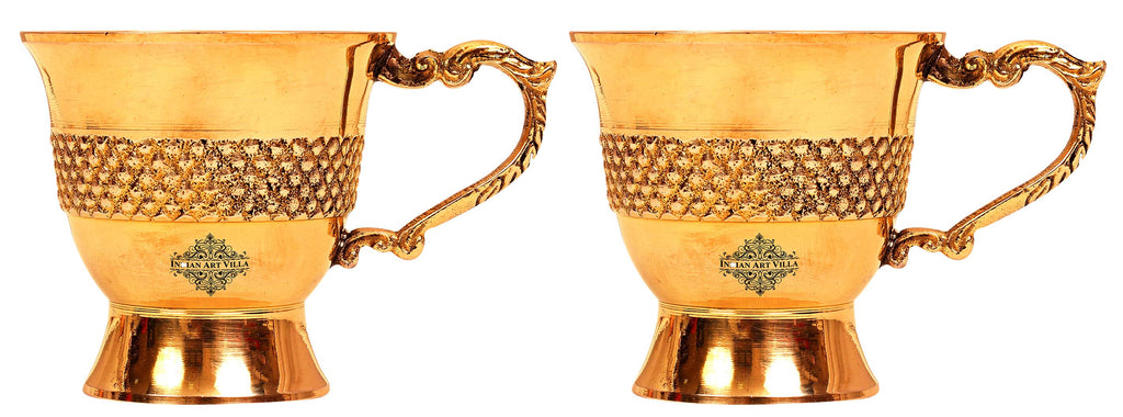 Brass cups set of 2