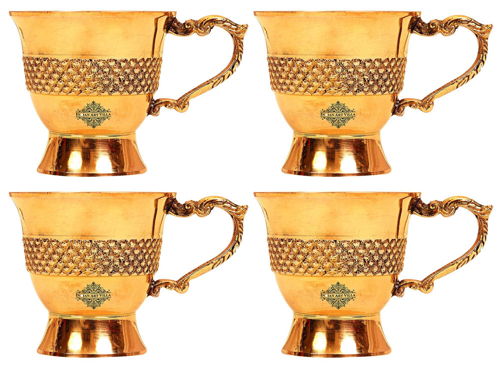 Brass cups set of 4