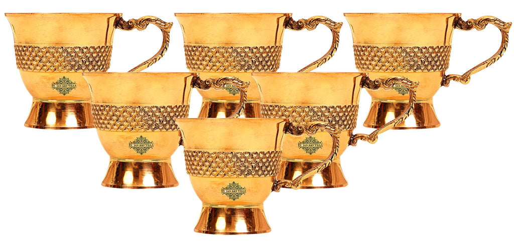 Brass cups set of 6