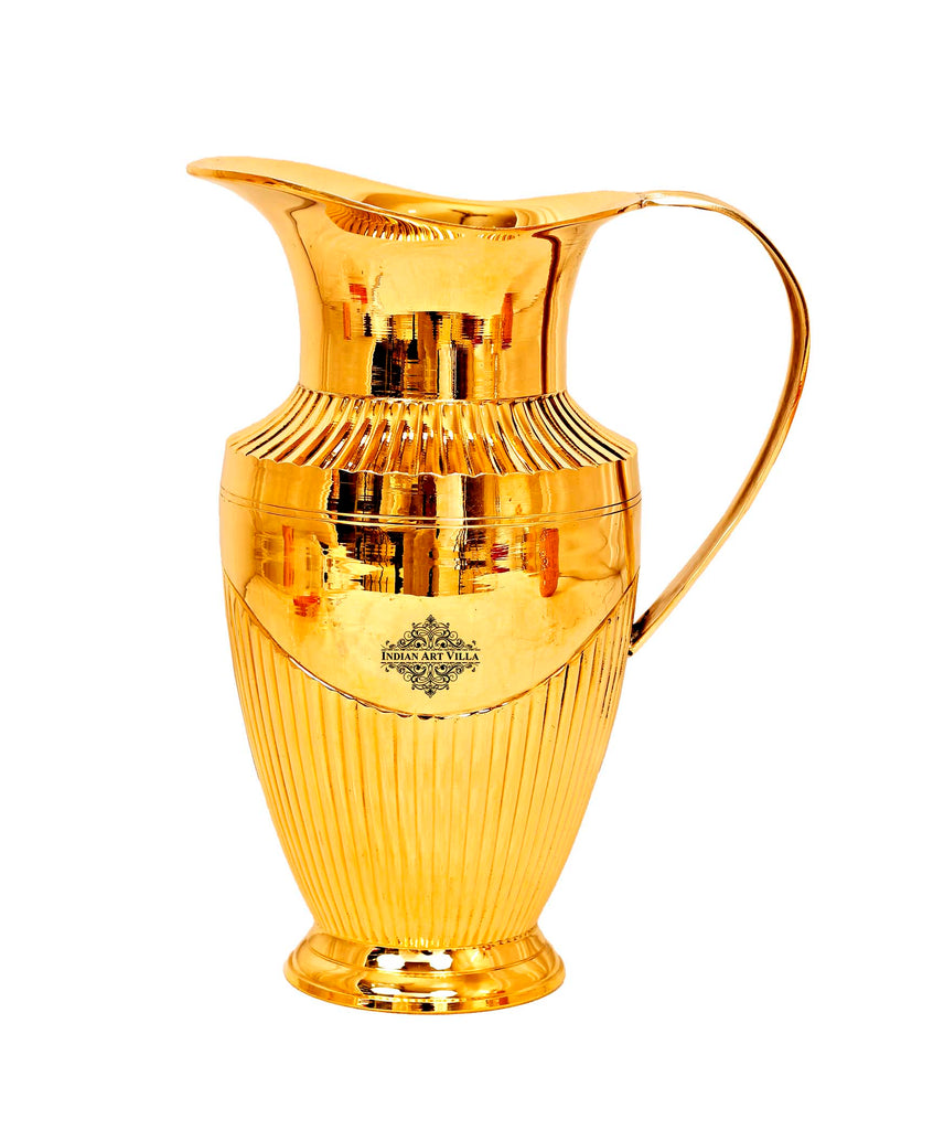 Brass Lining Design Jug Pitcher, Serveware & Drinkware, 40 Oz