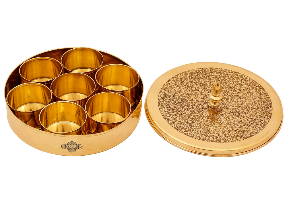 Brass Masala Box Container
