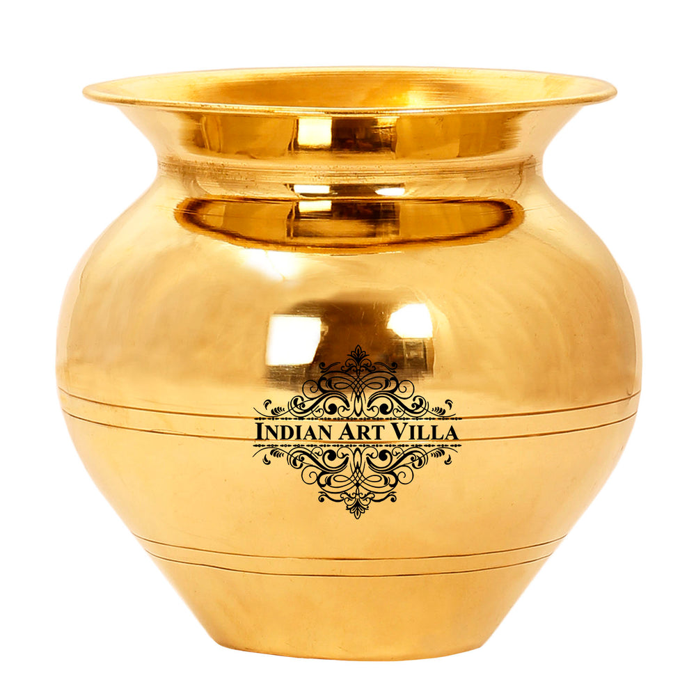 Brass handmade Lota Kalash, Puja Article, Storage Water, 27 Oz