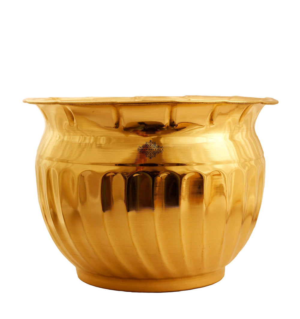 Brass Matka Shape Home Decor Planter