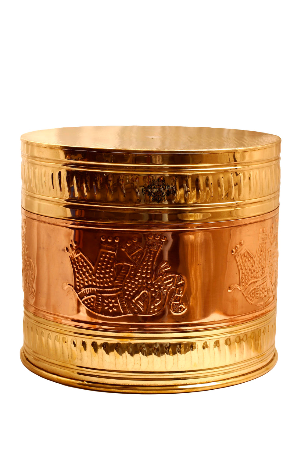 Brass Embossed Design Home Decor Planter