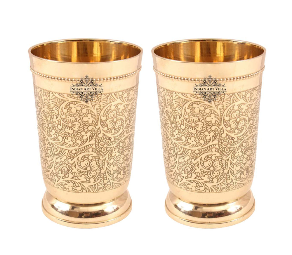Brass Tumblers Set of 2