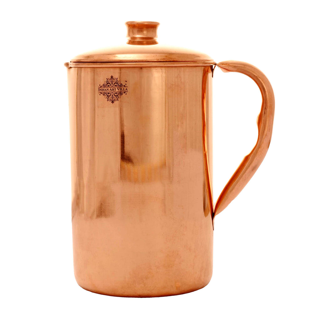 Pure Copper Plain Shiney Deisgn Water Jug Pitcher