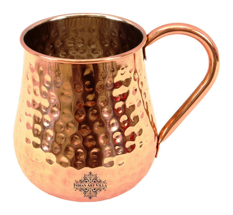 Copper Nickel Round Hammered Mug Moscow Mule 20 Oz