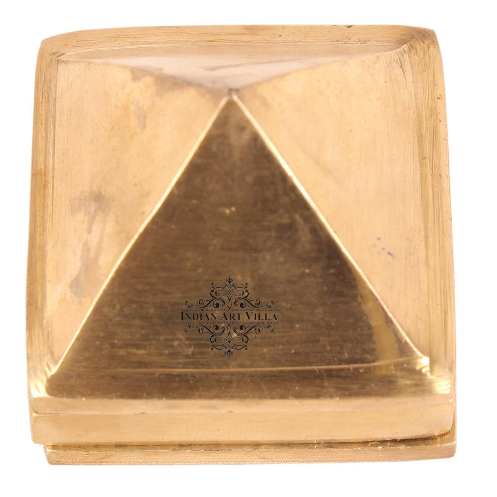 Brass 3 Stage Fengshui Vastu Pyramid|Temple Home Office Religious Gift Item