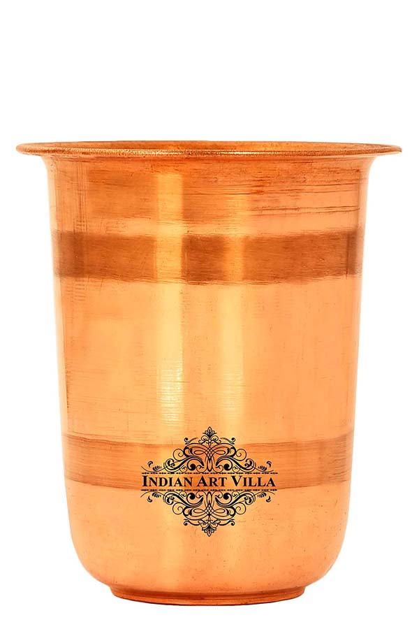 Copper Pooja Kids Glass Tumbler Cup, Temple Home Pooja Purpose, Drinkware, 250 ML