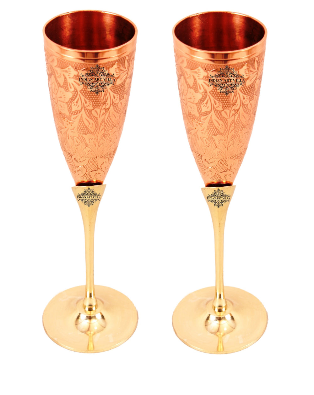 Handmade Copper Brass Champagne Glass 5 Oz