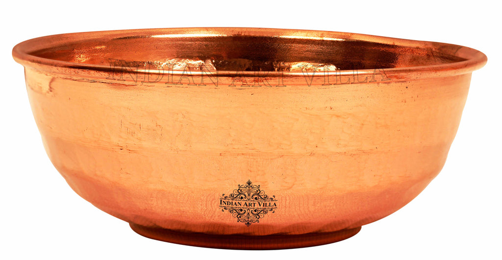 Copper Hammered Design Bowl Katori 10 Oz