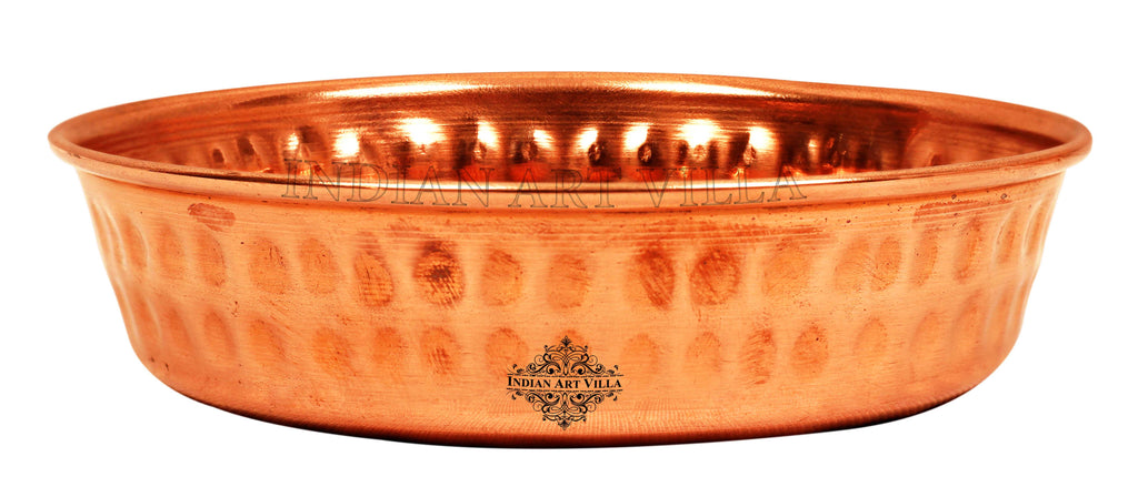 Copper Hammered Design Rice Plate
