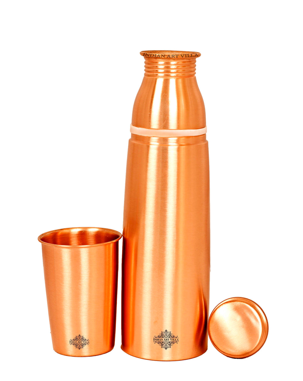 Copper Bottle With Inbuilt Glass Drinking Water Benefit Yoga, 950 ML