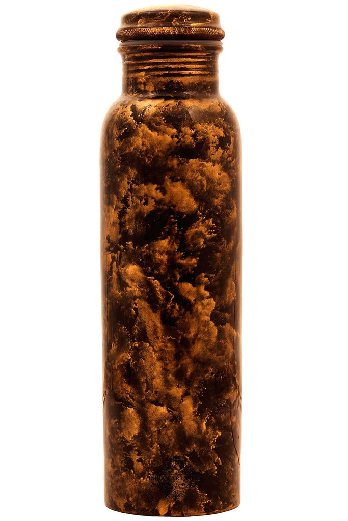 Copper Marble Design water Bottle , 33 Oz, Brown