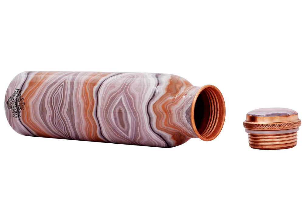 Copper Antique Designer water Bottle ,  33 Oz , Multicolor