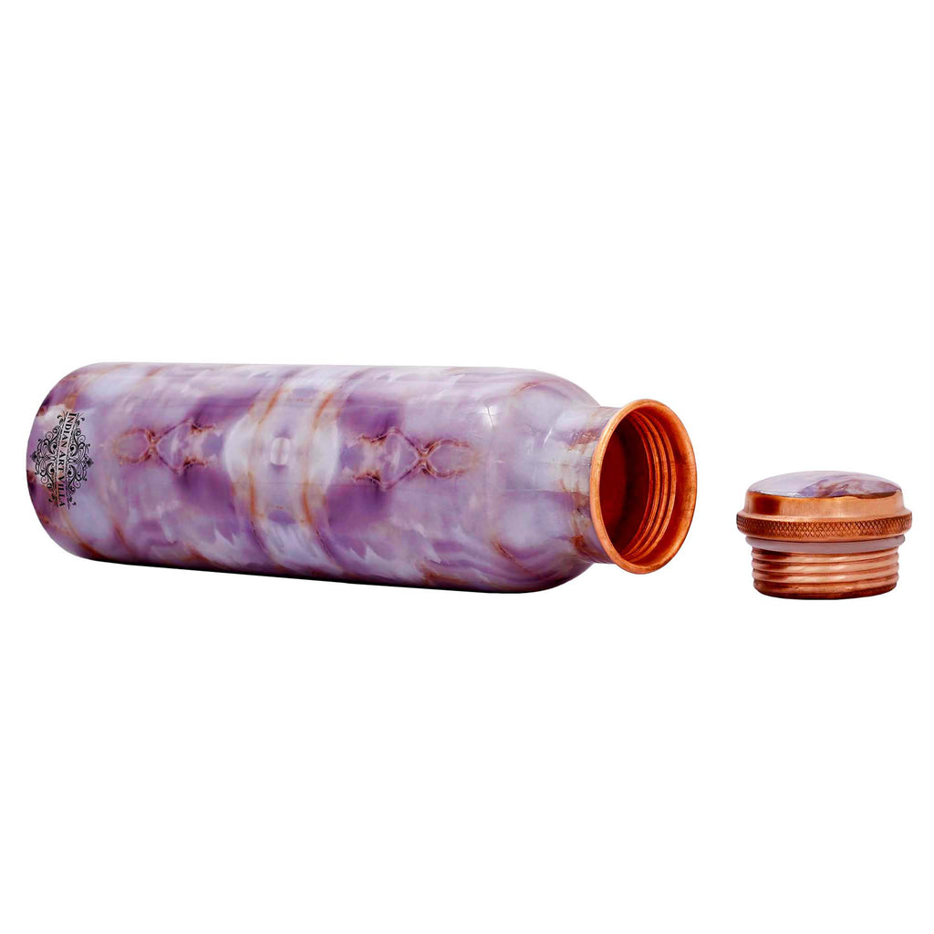 Copper Antique Designer Grenite Design water Bottle,  33 Oz ,  Purple