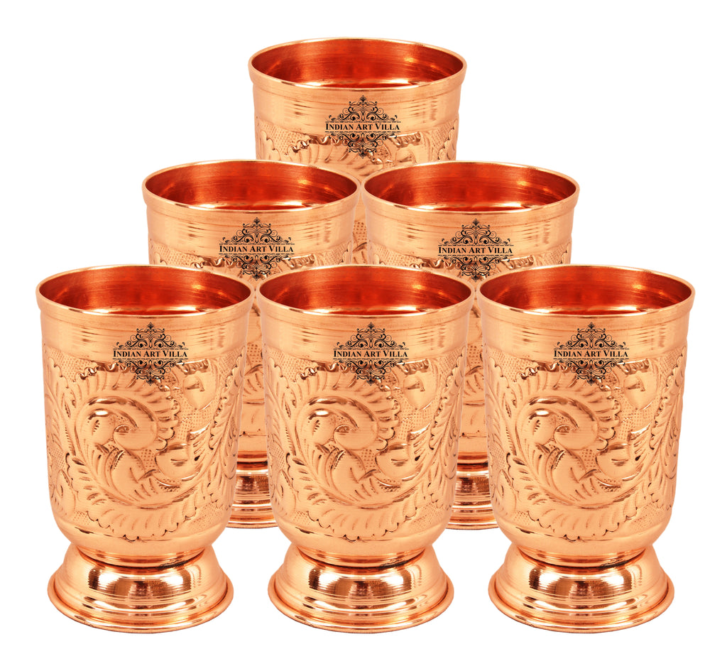 Handmade Designer Pure Copper Glass 11 Oz
