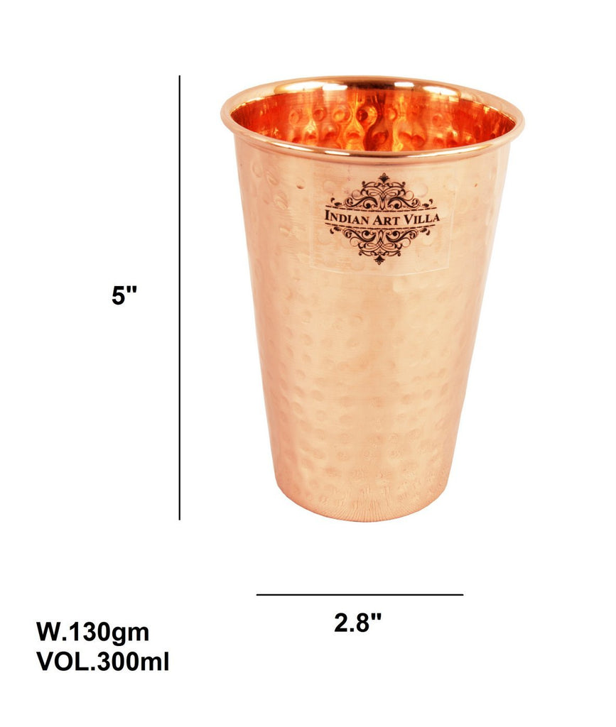 Handmade  Pure Copper Glass Cup 10 Oz