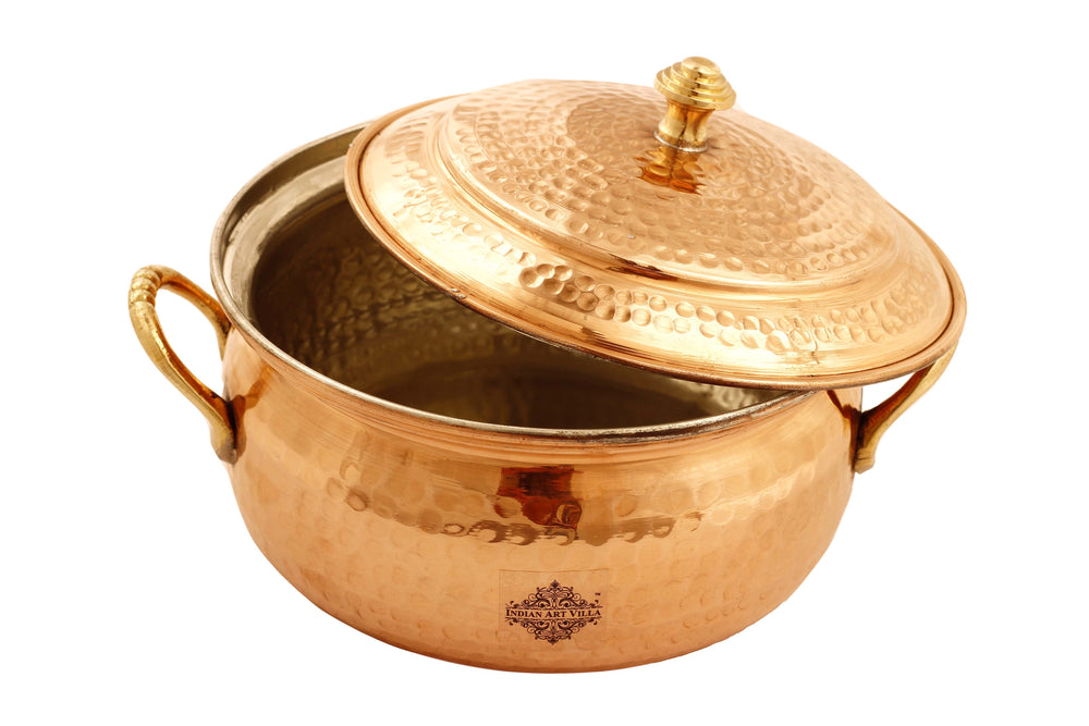 Pure Copper Casserole with Tin Lining, Tableware, 54 Oz | 40 Oz