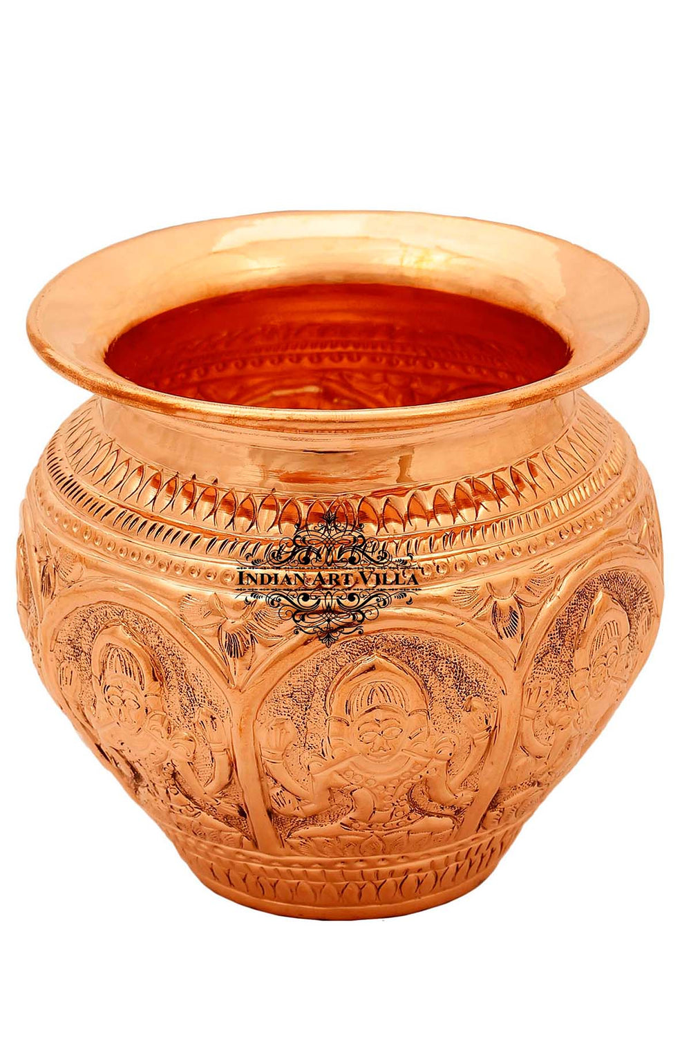 Copper Designer Lota Kalash Pot, 21 Oz