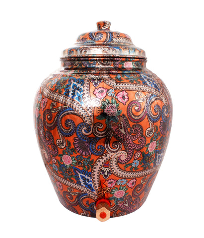 Copper Arabic Design Orange Water Pot