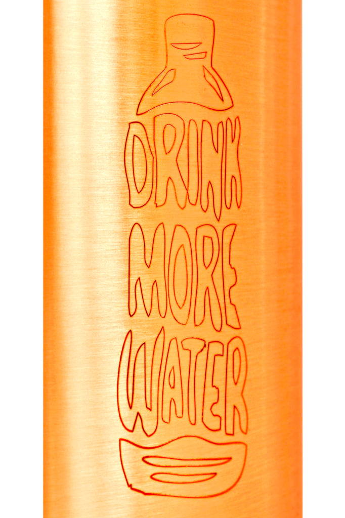 Copper lacquer Bottle 1000 ML (Drink more water...)