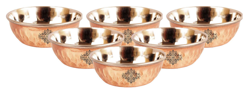 Handmade Steel Copper Chutni Bowl 1.5 Oz - Kitchen Dining Gift Item Home Hotel