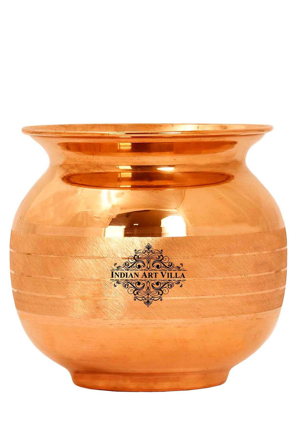 IndianArtVilla Best Quality Surya Namaskar Lota Pot, Puja Wedding Purpose, Temple Home, 850 ML, Brown
