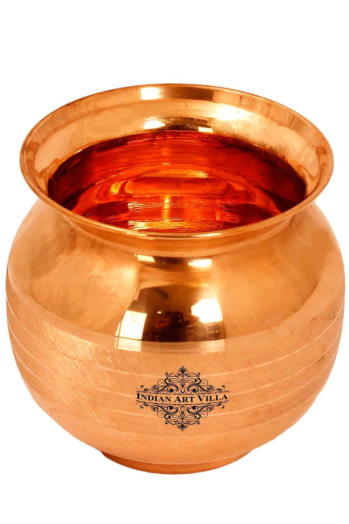 Handmade Copper Lota Pot 25 Oz for Home Kitchen Temple Gift Item