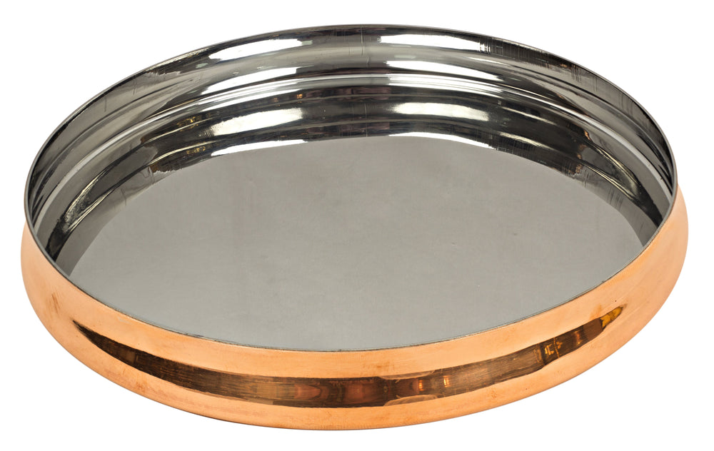 IndianArtVilla Best Quality Serving Curved Design Thali, Dinnerware