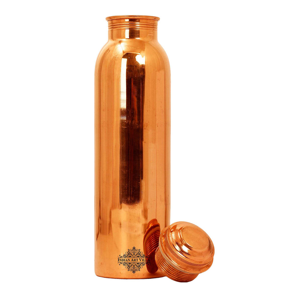Copper Water Bottle Leak Proof Joint Free Shine Finish