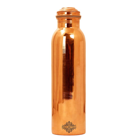 Copper Water Bottle Leak Proof Joint Free Sine Finish