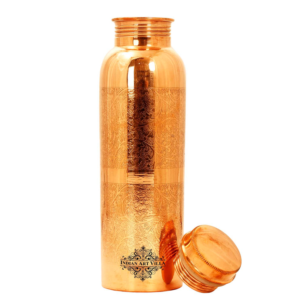 Copper Embossed Design Leak Proof Joint Free Bottle
