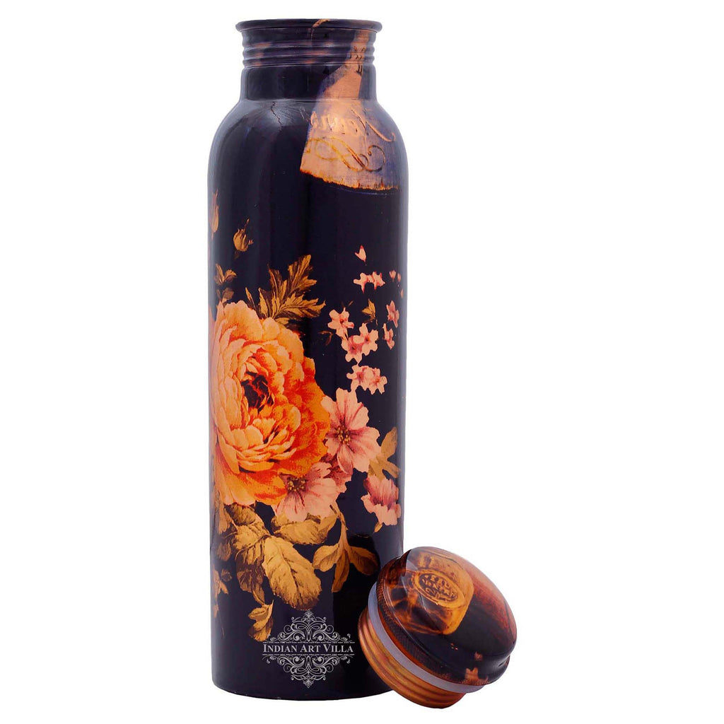 Copper Printed Flower Design 33 Oz