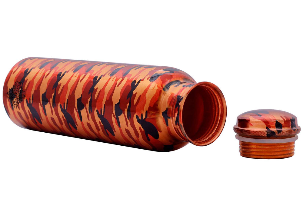 Copper Printed Abstract Design Bottle, 33 Oz