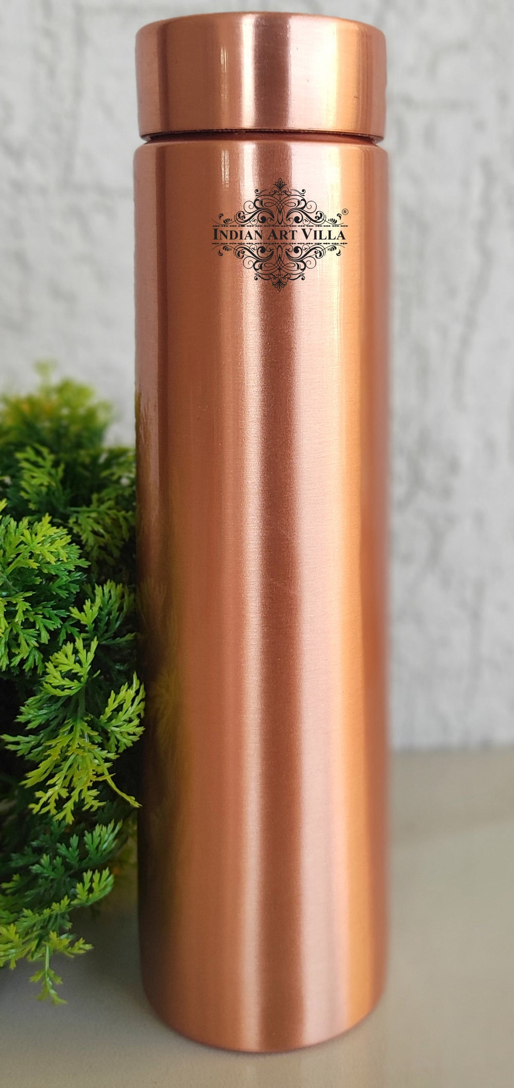 Pure Copper Lacquer Coated Pyramid Bottle, Volume- 29 Oz
