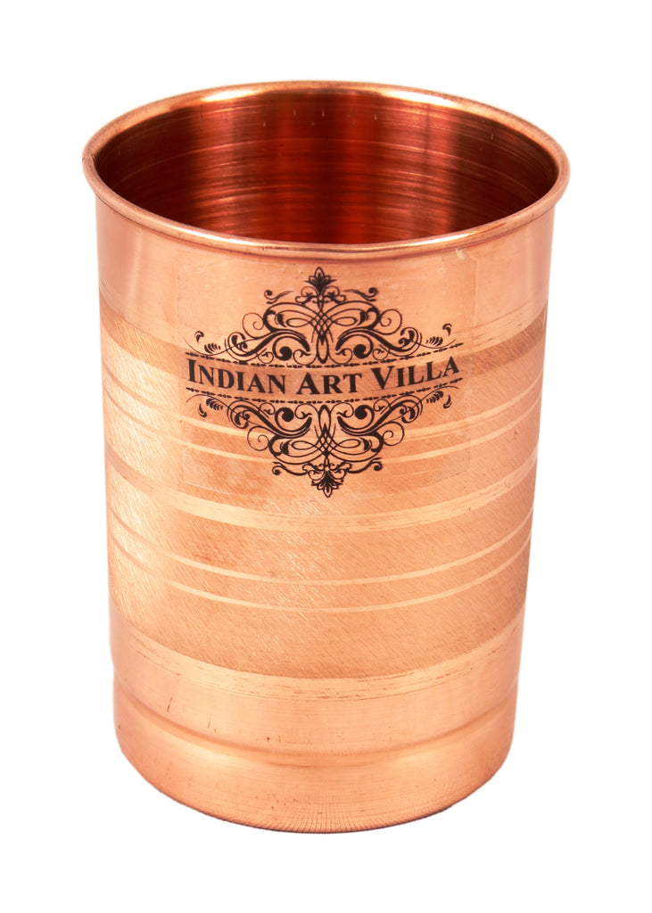 Pure Copper Set of 1 Jug Pitcher 40 Oz with 1 Glass Tumbler 10 Oz - Storage Serving Water Benefit Yoga Ayurveda