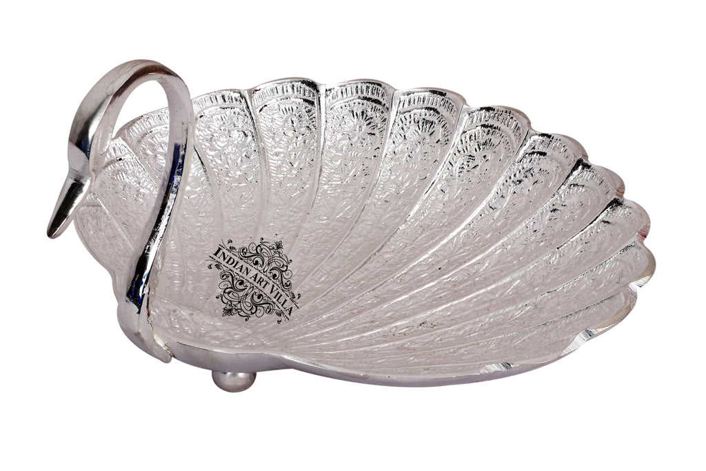Silver Plated Handmade Duck Design Bowl