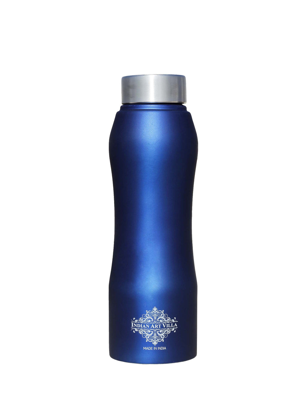 Steel Bottle Ergonomic Design With Steel Cap Blue Matt 25 oz