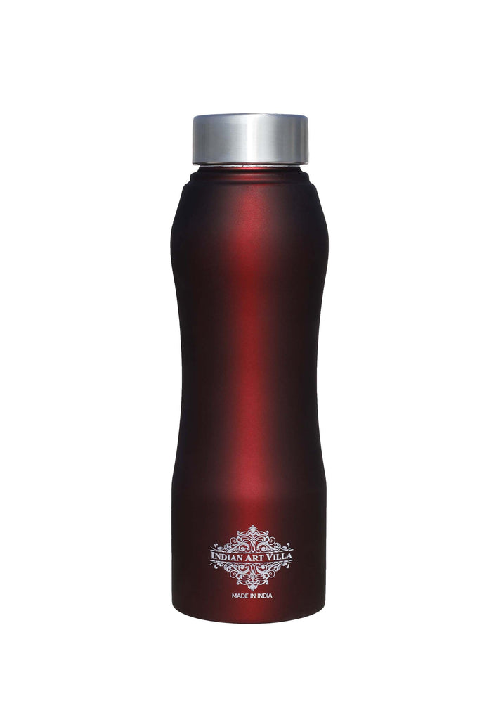 Steel Bottle Ergonomic Design With Steel Cap Wine Matt 25 Oz