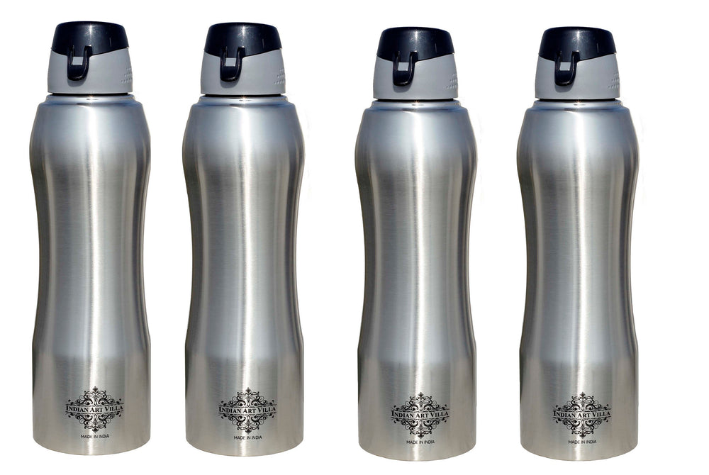 Steel Ergonomic Design Bottle Set of 4