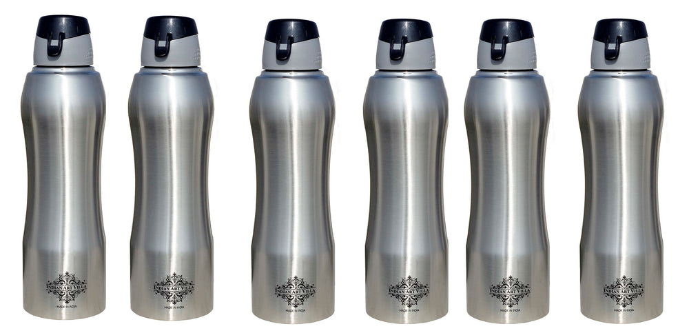 Steel Ergonomic Design Bottle Set of 6