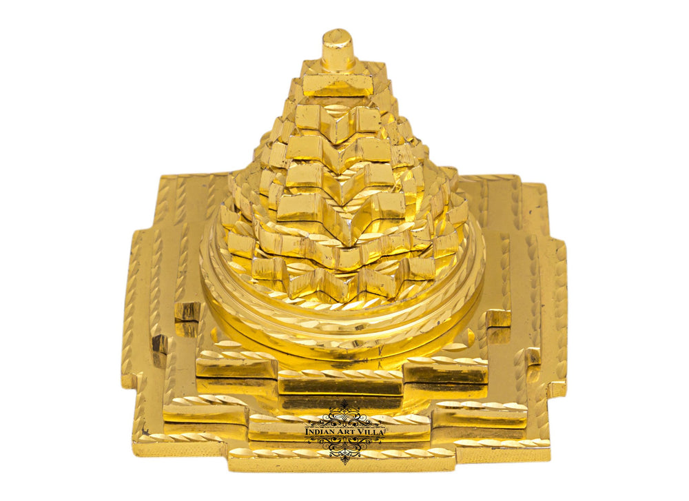 Brass 3 Stage Vastu Fengshui Pyramid, For Positive Energy Increase Concentration