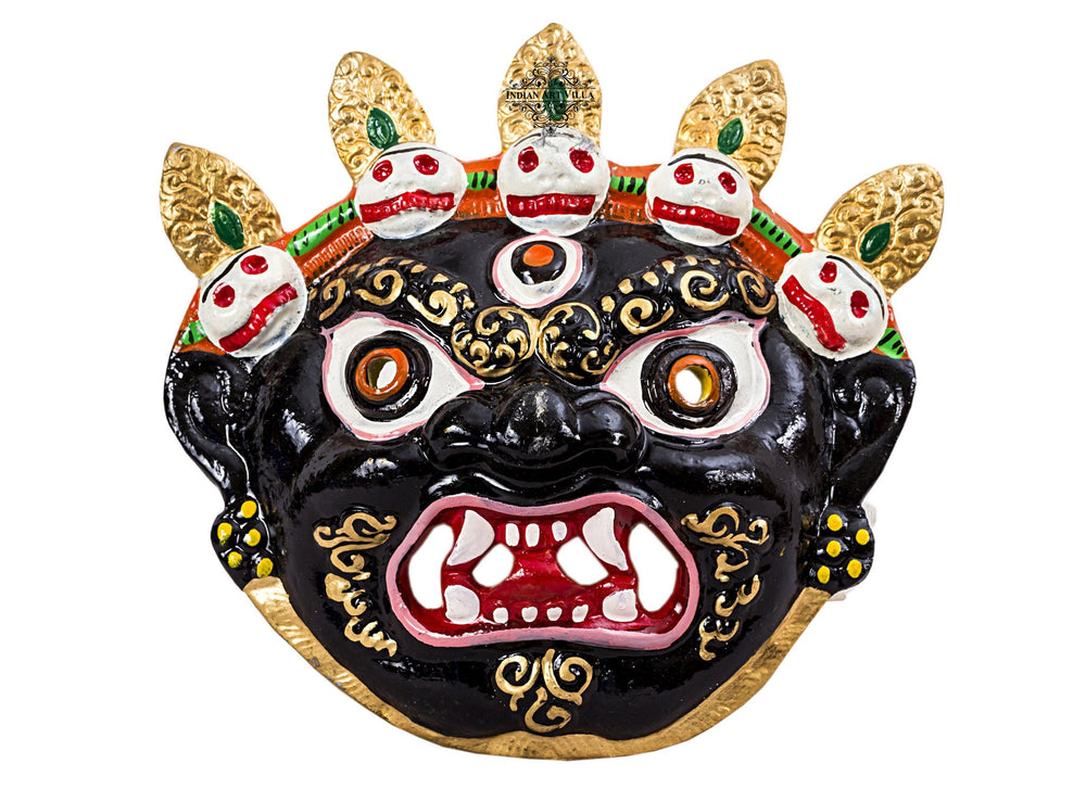 Metal Evil Face Mukhota Mask Nazar Battu|Wall Hanging |Protect Home Office Shops