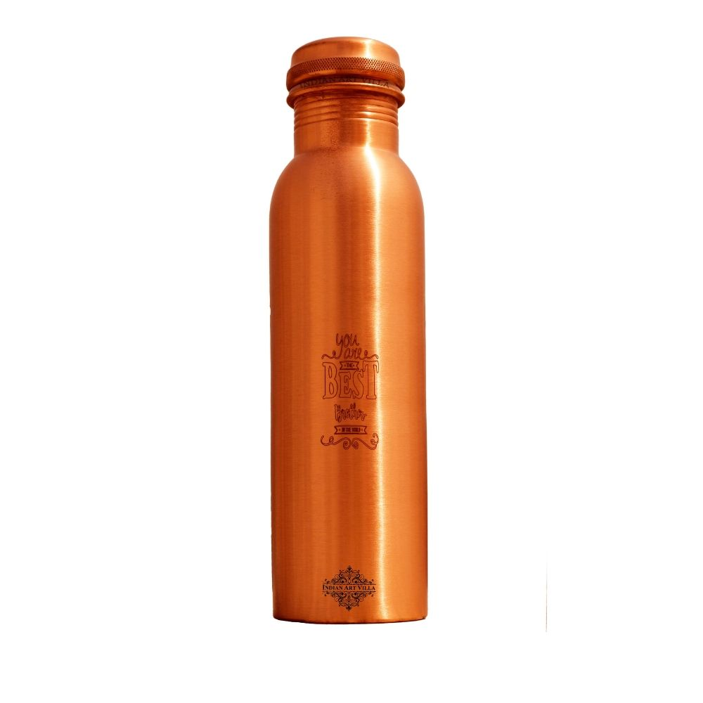 Copper Lacquer Bottle Engraved Bottle (You are Best Brother)
